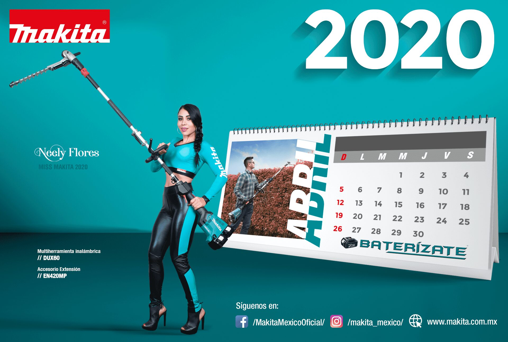calendario makita abril 2020